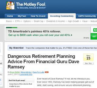 Ramseyadvice