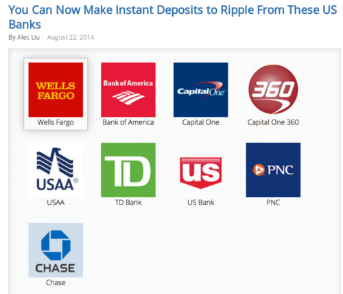 You Can Now Make Instant Deposits to Ripple From These US Banks   Ripple