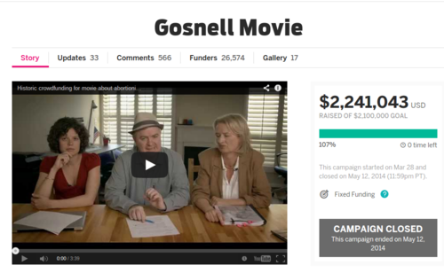 Gosnell Movie   Indiegogo