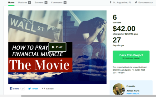 How To Pray For A Financial Miracle Movie And Audiobook by James Paris — Kickstarter