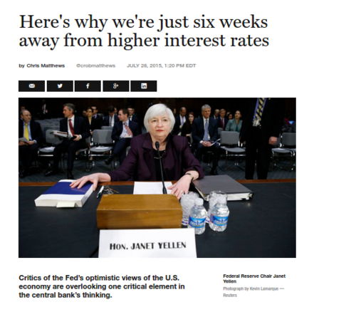 Federal Reserve  Janet Yellen will raise interest rates in September   Fortune