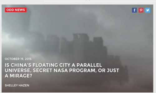 Is China's Floating City A Parallel Universe  Secret NASA Program  Or Just A Mirage