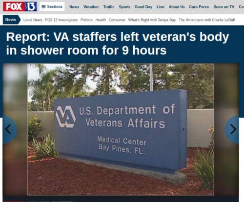 Report  VA staffers left veteran s body in shower room for 9 hours   Story   FOX 13 Tampa Bay