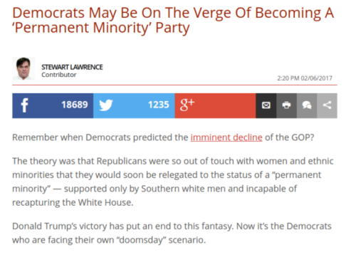 Democrats May Be On The Verge Of Becoming A  Permanent Minority  Party   The Daily Caller