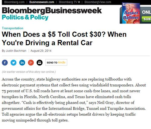 Rental Car Companies Cash In With New Toll Scam