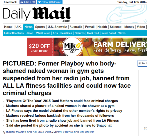 Playboy Playmate Out of Work After Cruelly Shaming Naked LA