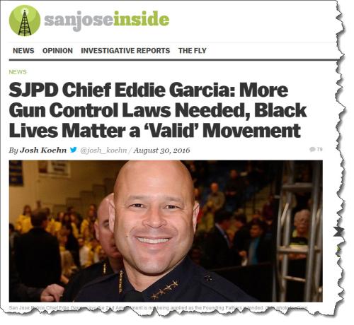 San Jose Police Chief: Too Many Guns in America - James L  Paris