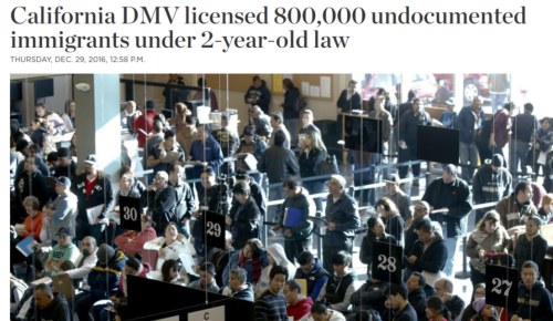 California DMV licensed 800 000 undocumented immigrants under 2 year old law   The Spokesman Review