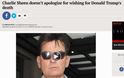 Charlie Sheen doesn t apologize for asking God to  take  Donald Trump