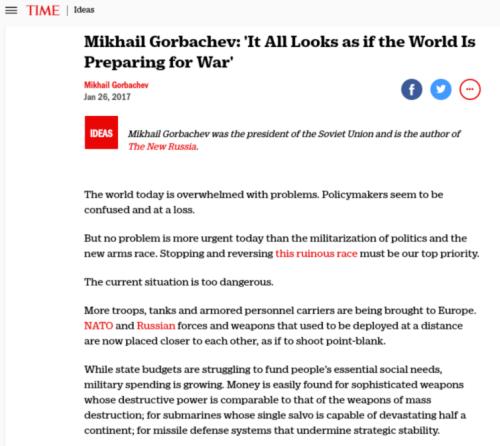 Mikhail Gorbachev  Vladimir Putin  Donald Trump Arms Race   Time.com