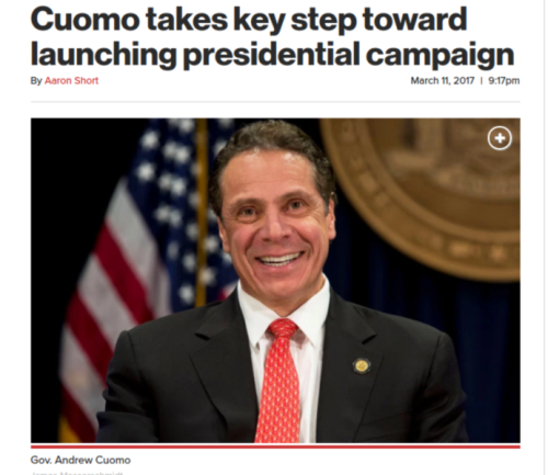 Cuomo takes key step toward launching presidential campaign   New York Post