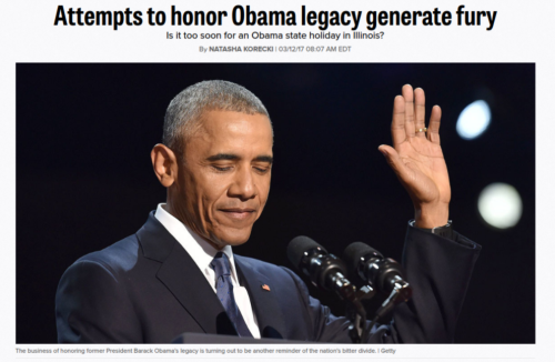 Attempts to honor Obama legacy generate fury   POLITICO