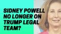 Sidney Powell No Longer On Trump Legal Team_
